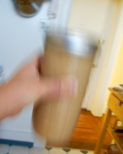 shaking dirty protein chai